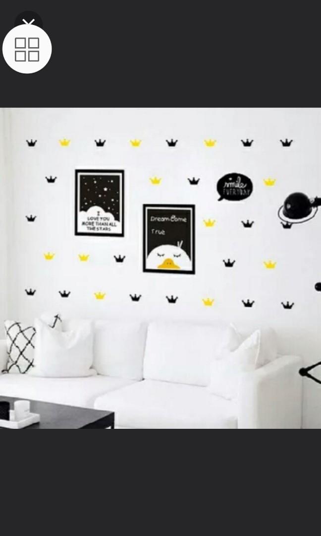 Instock Nordic Ins Mini Crown Baby Room Children S Room Pvc Wall