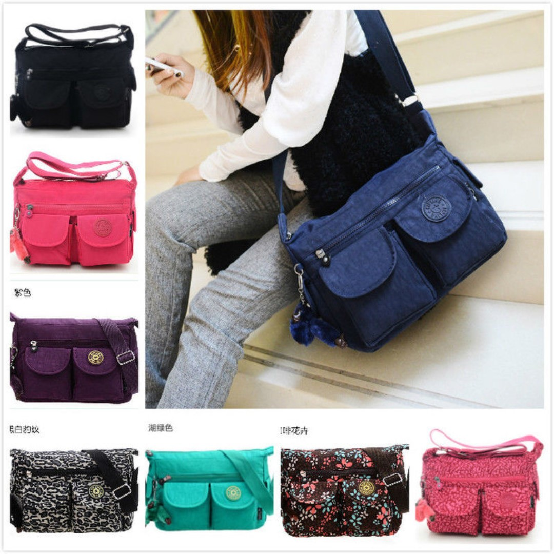 Women s Kipling Handbag Nylon Canvas Shoulder Bag Messenger ... 6e4a79ed0b