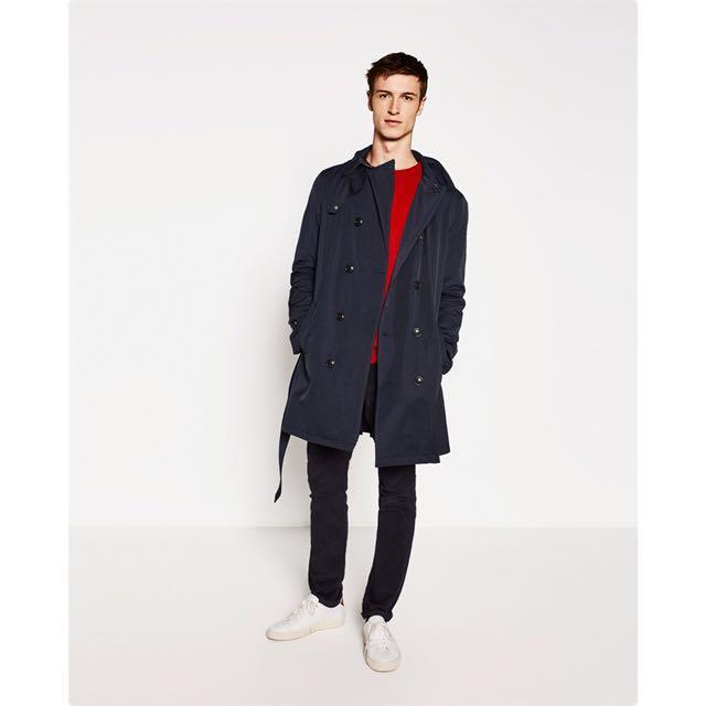 f594657e Zara Trench Coat / Jacket, Men's Fashion, Clothes on Carousell