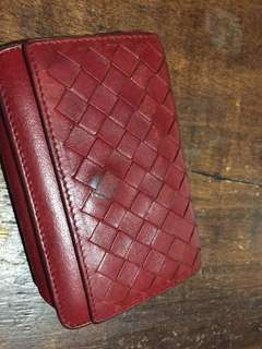 Authentic Bottega Veneta Leather Card Holder Wallet