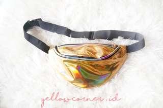 Hollogram Waist Bag Gold