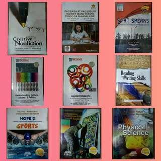 Grade 11 books (18 pcs good for 1st and 2nd Sem)