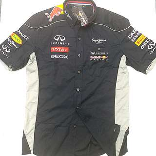 INFINITI RED BULL RACING F1-方程式賽車車隊衫   INFINITI RED BULL RACING PEPE JEANS TEAM RACE SHIRT SHORT SLEEVE MENS F1 FORMULA ONE