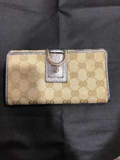 Reduced! Authentic Gucci abbey GG canvas long wallet