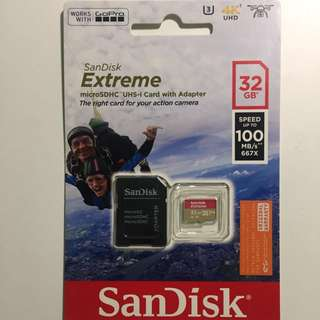 SanDisk Extreme microSDHC 32gb A1 UHS-1
