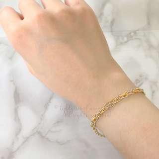 JAPAN KOREA Gold Silver Bracelet 金銀色手鍊