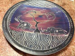 SOLID WOODEN PLATE