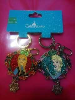 🚚 迪士尼 冰雪奇緣鏡面鑰匙圈