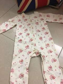 🚚 mothercare女嬰包腳連身裝