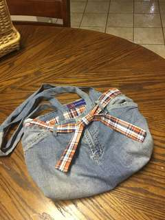 Recycled Jean Hobo Purse