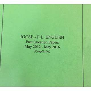 IGCSE English Past Papers Compilation Book