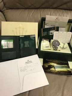 一手錶 停產 勞力士 Rolex 16600 Sea-Dweller 全套 full set 尾期M頭