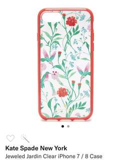 iPhone 7/8 Case 正品 Kate Spade Jeweled Jardin Clear 花花閃石手機殻