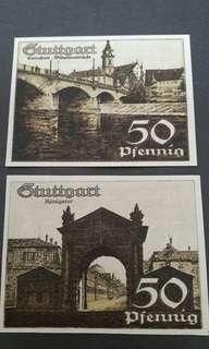 Stuttgart 50 Pfennig in 1921