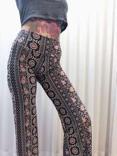 BOHO Stretchy Flare Bell Bottom Pants