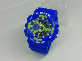 G Shock Double Time Biru List Hijau GA-110