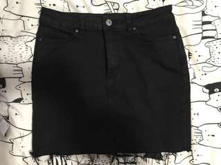Factorie Malibu Stretch black denim skirt