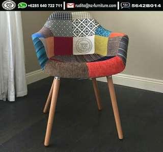 Patchwork Accent Armchair