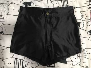 unbranded shiny high waisted shorts