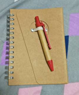 Notebook W Pen *Eco Friendly* *New*