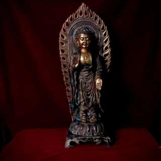 青铜辉煌的遗产 - 佛祖 - 释迦牟尼佛青铜鎏金立像(唐朝)