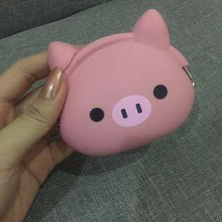Dompet koin pink piggy