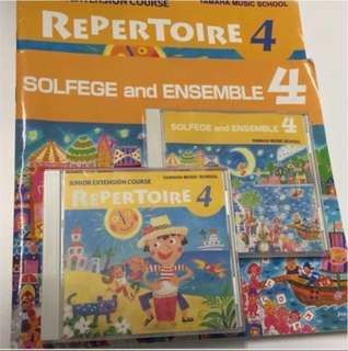 Yamaha Junior Extension Course (JXC) Solfege and Ensemble & Repertoire Level 4 Books & CDs