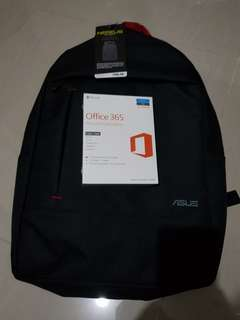 Office 365 Personal & Asus Laptop Bag