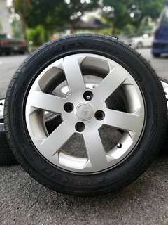 Original 15 persona gen2 sports rim tyre 70% * mora mora untuk you *