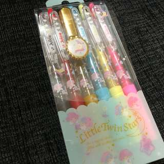 Instock Sanrio Little Twin Star multi Color pen set from japan