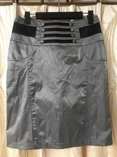鐵灰色OL長窄裙