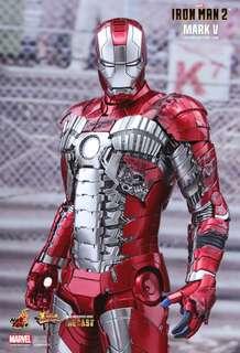 全新 Hot Toys Ironman 2 Mark V 5 Hottoys Iron Man Diecast MMS400D18 合金版