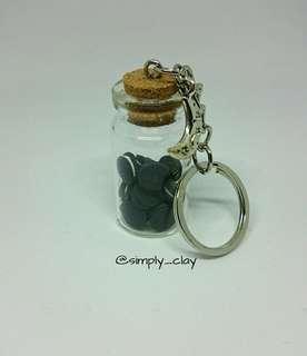 Oreo Cork Bottle keychain