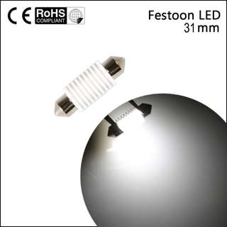 1pc 31mm Festoon Ceramic LED Interior light(No error canbus)