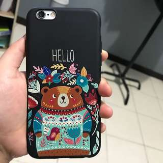 Teddy bear softcase for iphone 6
