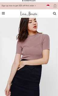 Love bonito Tanina Knit Crop Top