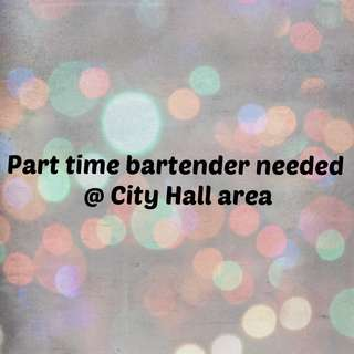 Part time bartender needed