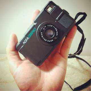 罕見隨身相機 AGFA compact 大紅鈕 Optima 935 底片 底片機 底片相機 傻瓜相機 街拍 估焦