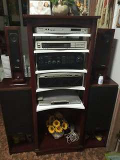Integrated amplifier with DVD and Tuner
