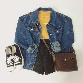 Oversized Jacket Jeans Classic Blue Unisex