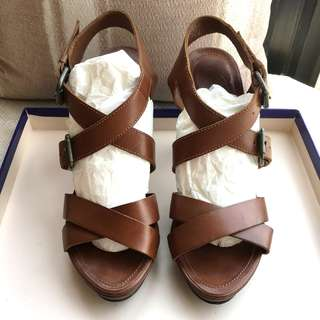 Massimo Dutti   leather sandals shoes   @Made in Spain @Size 39 ...