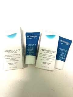 [試用裝] Biotherm Aquasource night spa triple spa effect night balm sample