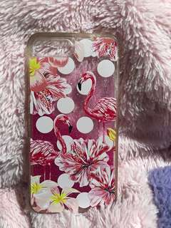 Pink Flamingo w/glitters for iphone7+