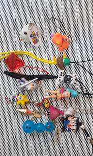 Mixed keychains/charms