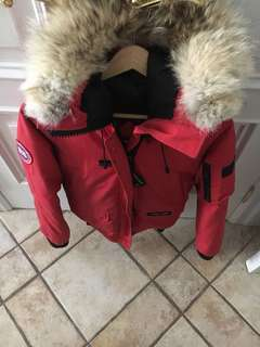 Red Canada goose jacket