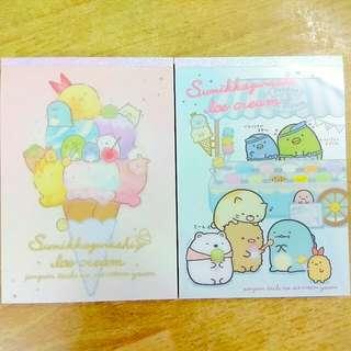 [Both $10] Sumikko Gurashi: Ice-cream Theme BIG Memopad ×2