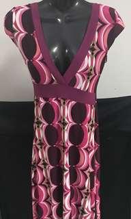 Patterned Lycra Dress