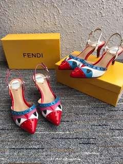 Fendi Sling Back Heels
