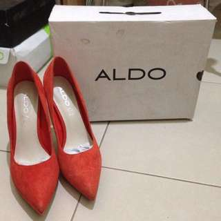 Aldo heels orange suede