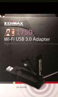 High Speed WiFi USB Internet Adapter - Edimax AC1750 Wi-Fi USB 3.0 - For fasted internet connection for your computer Mac, Windows or Linux